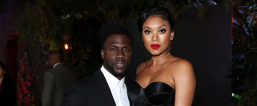 Kevin Hart and Eniko Parrish at Jumanji Premiere 2017