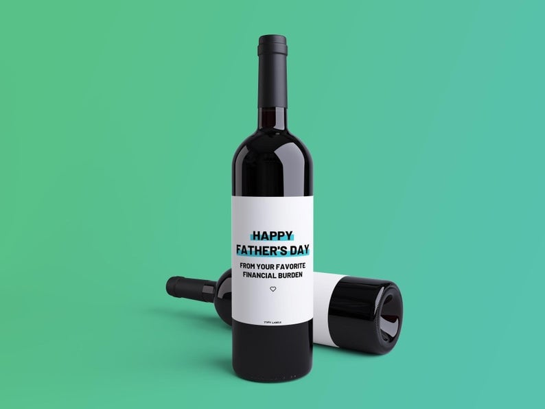 Funny Father's Day Wine Labels