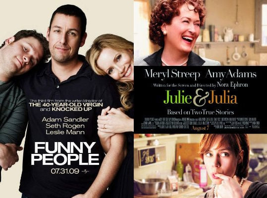 Funny People or Julie and Julia: Which Interests You More?