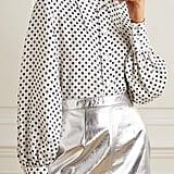 ALEXACHUNG Polka-Dot Satin Shirt