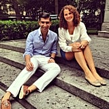 Our NYC interns Robert Khederian and Colleen Doyle looked summery and fresh-faced in the park.