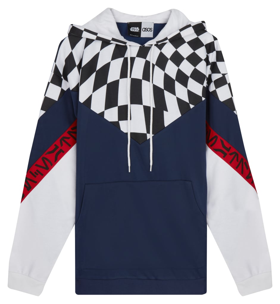 ASOS x Star Wars Oversized Hoodie With Checkerboard & Printed Tape