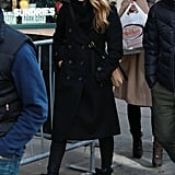 Jessica Alba strolled through Park City, UT while attending the Sundance Film Festival.