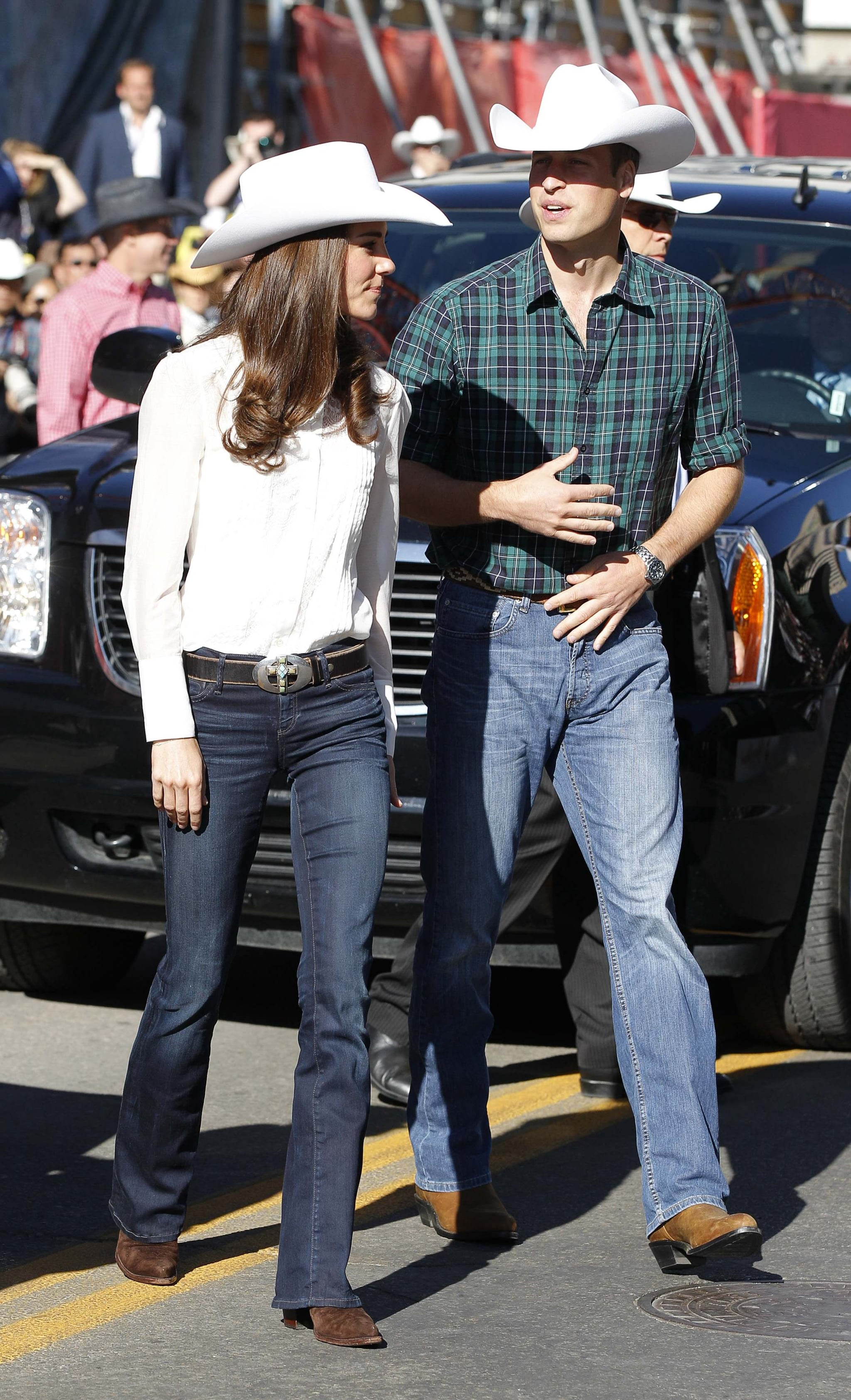 The Royal Couple at the Calgary Stampede Parade