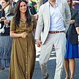 Meghan Markle Wearing a Staud Shirtdress