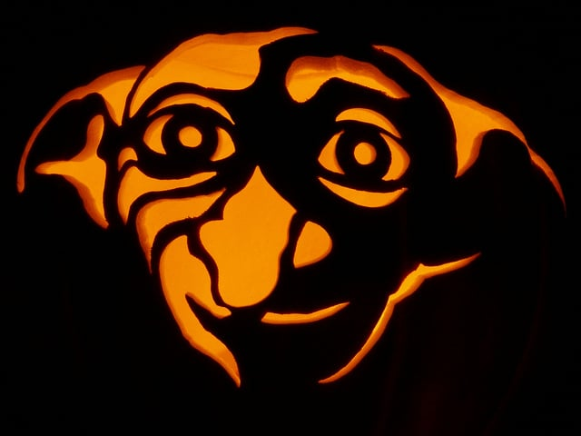 Dobby lives on in pumpkin form harry potter pumpkins for Harry potter pumpkin carving templates