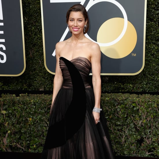 Jessica Biel's Black Dress Golden Globes 2018