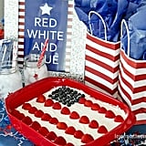 Red, White And Blue Flag Cake