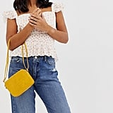 ASOS Design Croc Effect Crossbody Bag