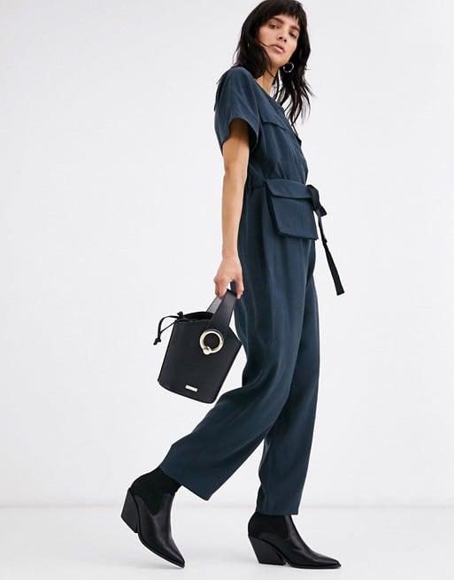 ASOS Design Minimal Boiler Jumpsuit With Detachable Fanny Pack