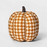 Knit Houndstooth Pumpkin Halloween Decoration