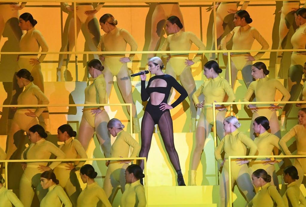 "Dua Lipa Performing ""Don't Start Now"" at MTV EMAs Video"