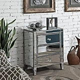 Convenience Concepts 3-Drawer Mirrored End Table
