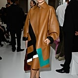 Miroslava Duma made a statement in leather at the Spring 2014 Balmain show.