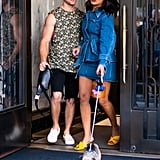 Priyanka Chopra Walking Her Dog With Nick Jonas
