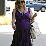 Reese Witherspoon covered her baby bump.