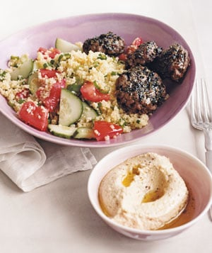 Mediterranean-Style Beef Patty and Couscous Recipe