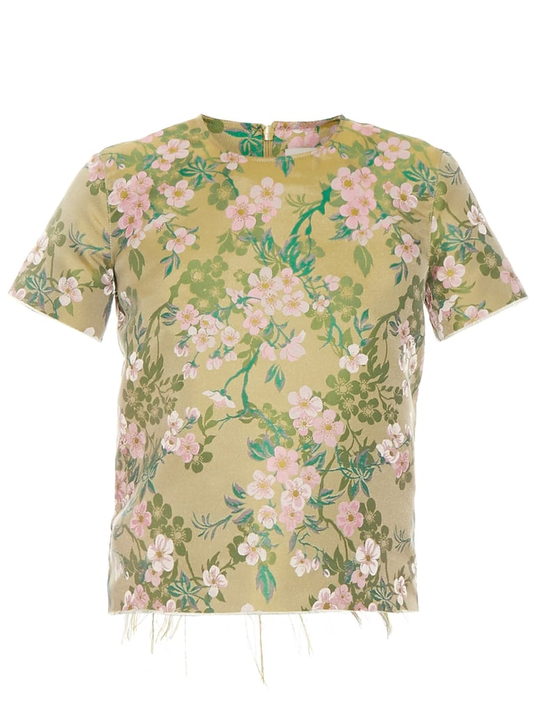 Marques' Almeida Floral-Brocade Raw-Edge Top (£260)
