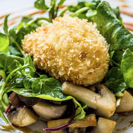 Crispy Hen Eggs, Pan-Fried Mushroom, Vinegar Caramel Recipe
