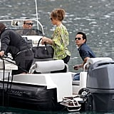 Pictures of J Lo and Marc in Nice