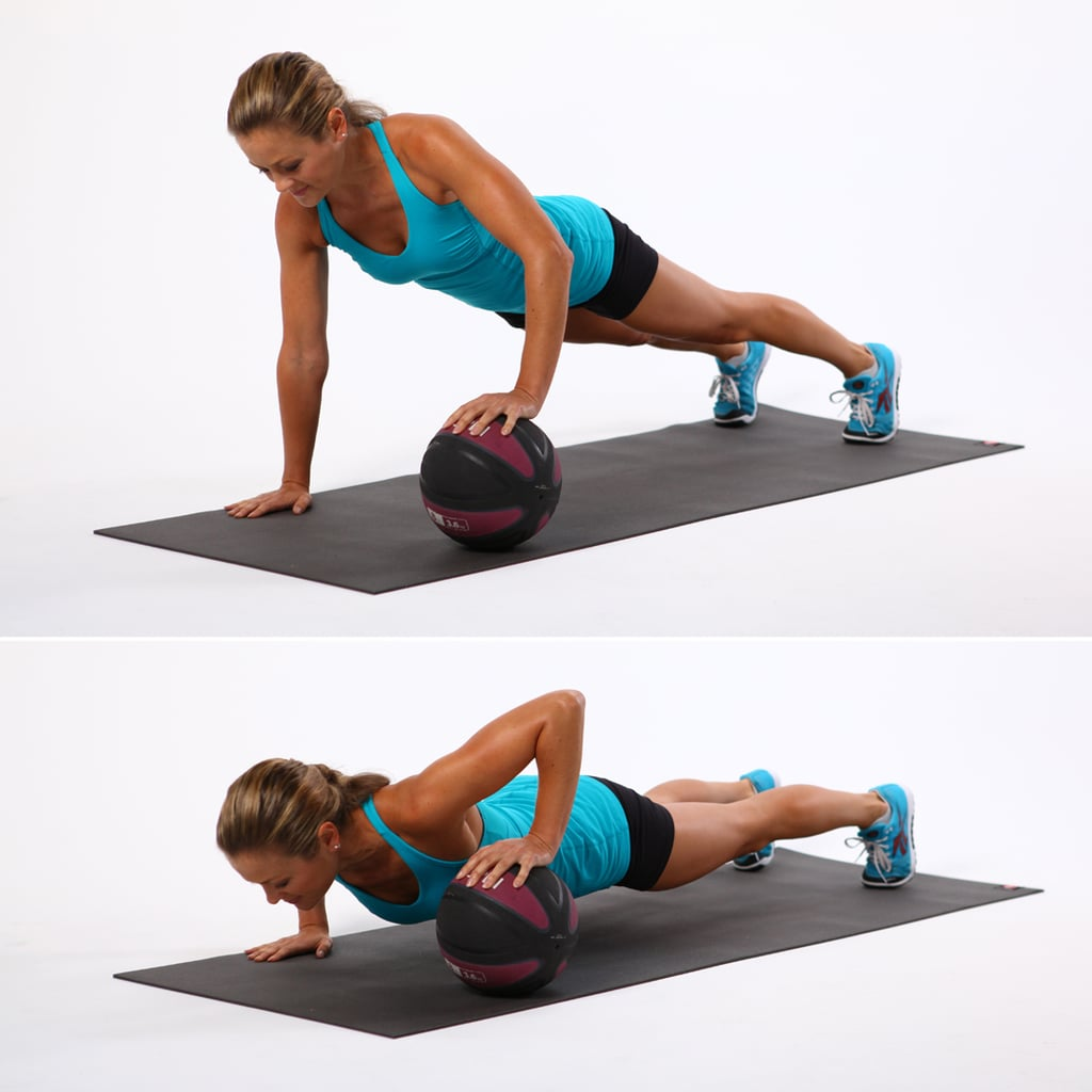 Superset 2, Exercise 2: One-Arm Med-Ball Push-Up | Full ...