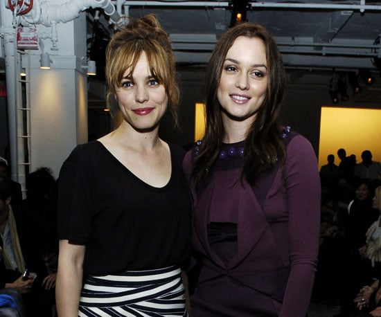 Slide Photo of Rachel McAdams and Leighton Meester at Fashion Week