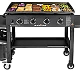 Blackstone Griddle Cooking Station 4-Burner Flat Top Propane Gas Grill