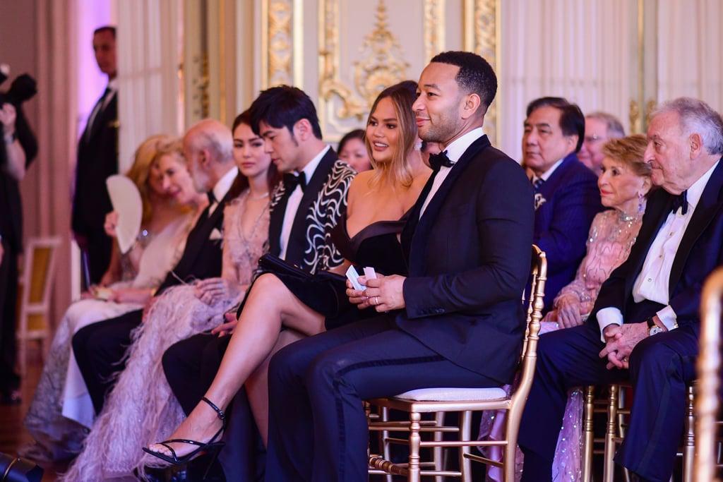 Chrissy Teigen Wedding Guest Dress in Paris