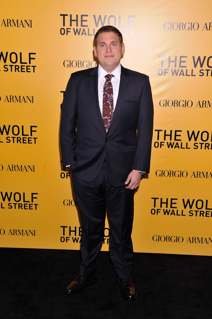 Jonah Hill suited up to premiere the film.