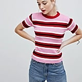 Daisy Street Knitted Jumper In Candy Stripe ($36)