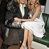 We got a better peek at those sandals as Sienna cuddled up to her mum, Jo.