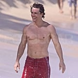 Shirtless Matthew McConaughey Gets Wet and Wild With Camila Alves!