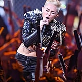 Miley Cyrus rocked the crowd with her performance.