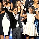Pictured: Miles Brown and Marsai Martin