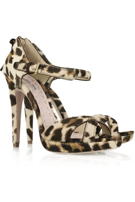 A sexy and timeless investment.  Miu Miu Leopard Sandals ($525, originally $750)
