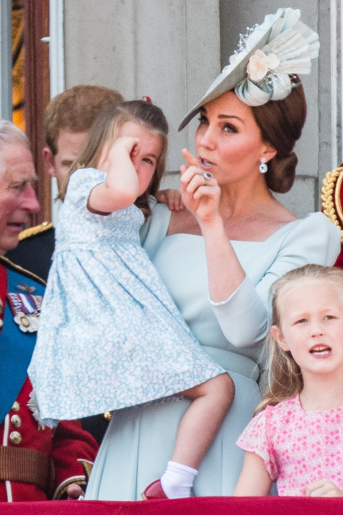 Kate Middleton's (kind of, sort of) just like every other mom, except her parenting moments are frequently caught on camera. She's had to deal with her fair share of toddler tantrums, and during Trooping the Colour on June 9, Kate's