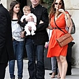 John Travolta and Kelly Preston in Paris with son Benjamin.