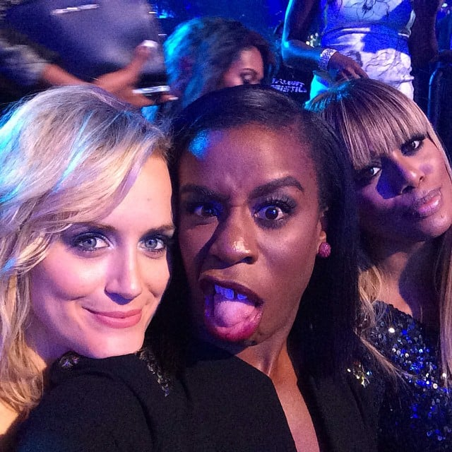 Taylor Schilling posed with her Orange Is the New Black cast members during the VMAs. Source: Instagram user tayjschilling