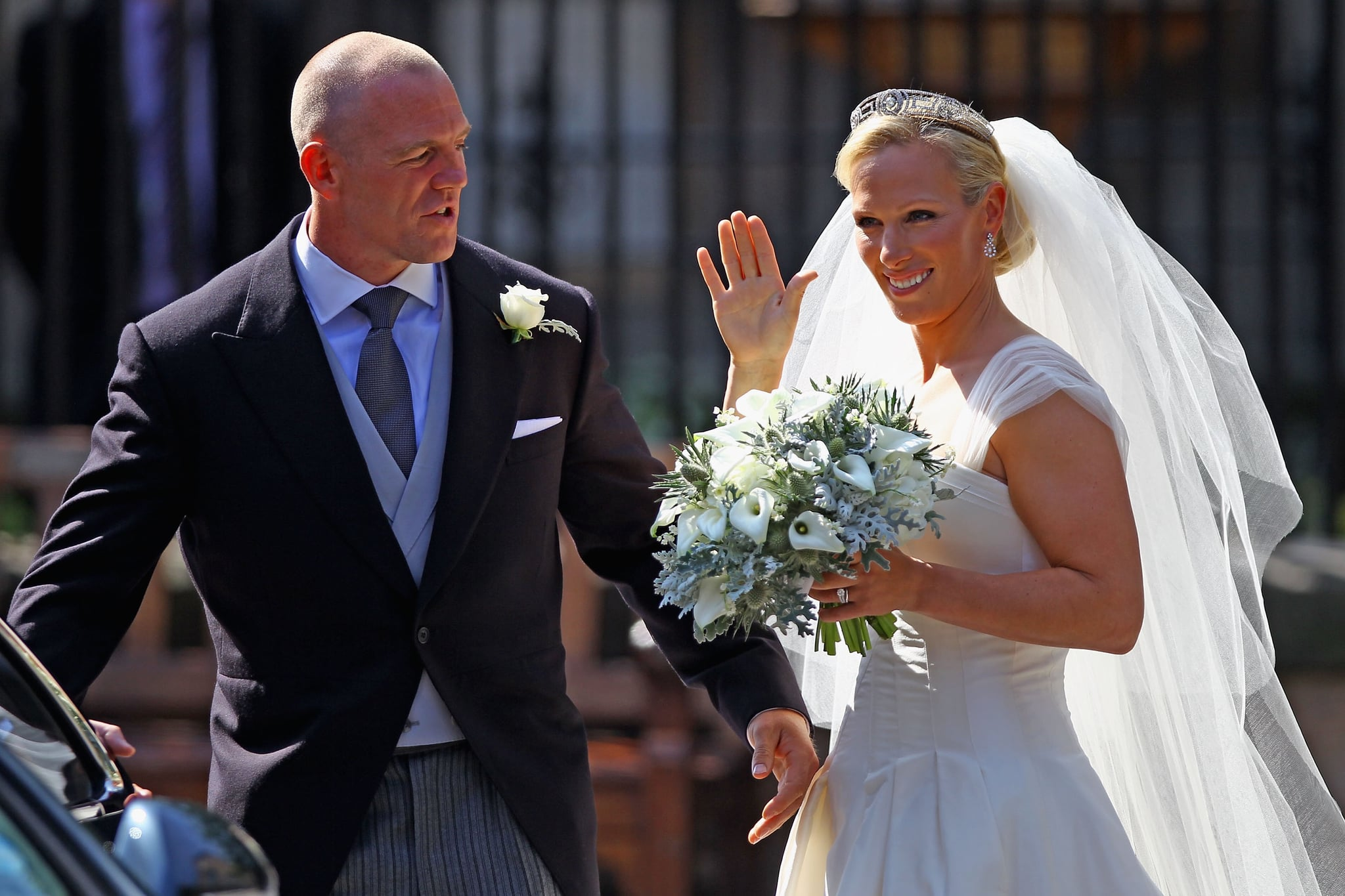 Pictures of zara phillips and mike tindalls scottish wedding see pictures of zara phillips and mike tindalls scottish wedding see her wedding dress popsugar fashion australia ombrellifo Images
