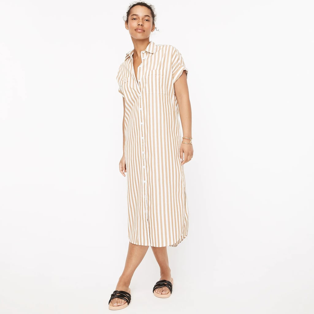 A Classic Warm-Weather Staple: Cotton Poplin Shirtdress