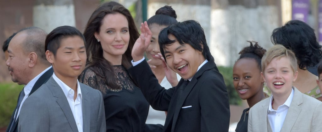 Angelina Jolie and Her Kids at Cambodia Movie Premiere