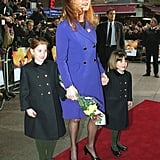 Fittingly, Sarah, Duchess of York, brought her daughters Beatrice and Eugenie to the premiere of A Little Princess in 1996.