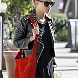 Nicole Richie finished a workout in LA.