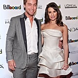 Lea linked up with Lance Bass for a Billboard event in NYC back in December 2010.