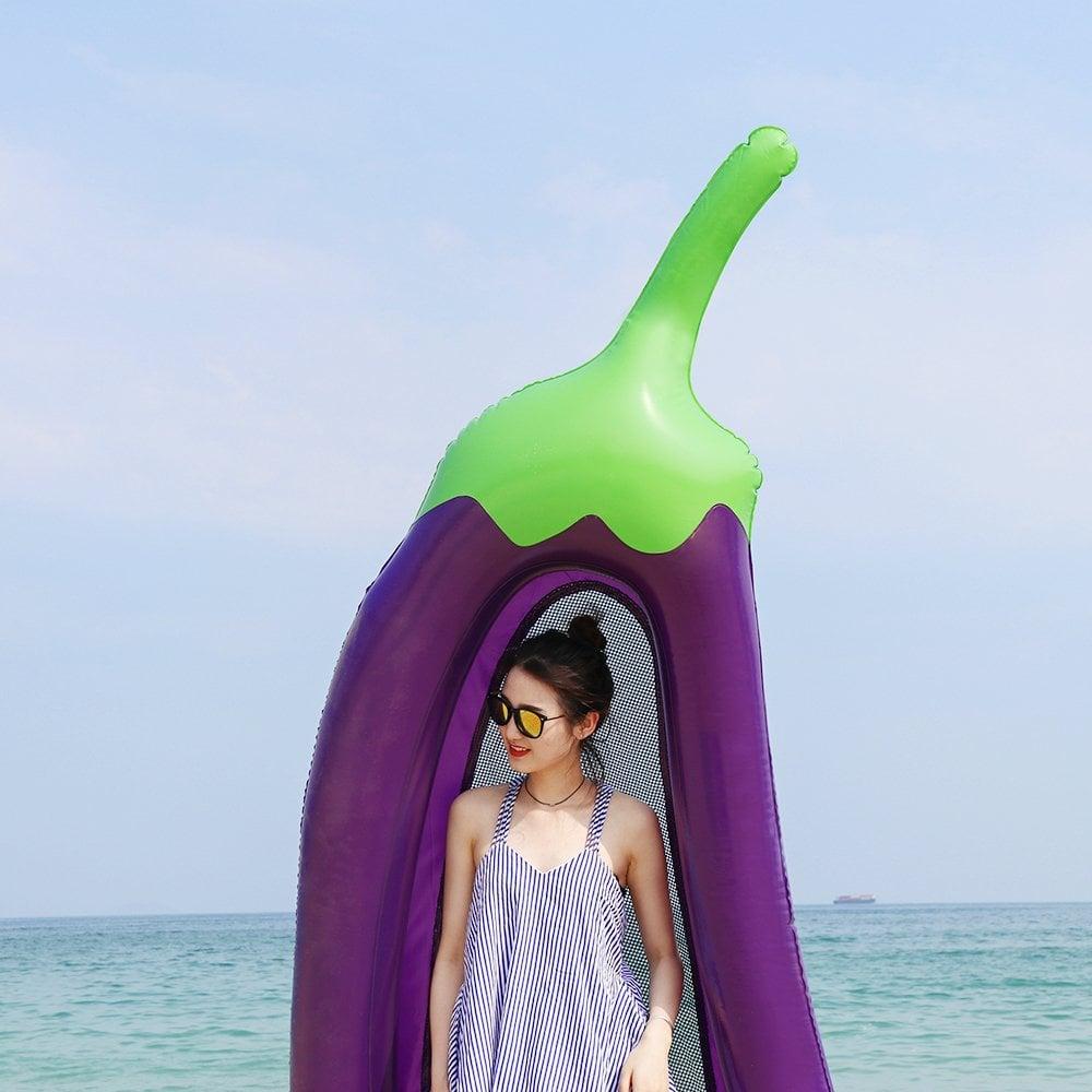 Eggplant Pool Float