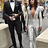 Kerry Washington and Nnamdi Asomugha at the 72nd Annual Tony Awards in 2018