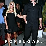 Jessica Simpson and Eric Johnson had a dinner with family and friends on Halloween.