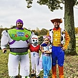 Shane Mcanally and His Family Dressed Up as Toy Story 4 Characters
