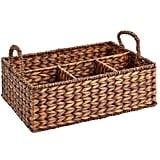 Carson Espresso Wicker Divided Basket