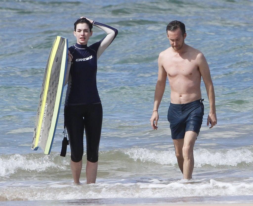 Anne Hathaway Accessorizes Her Bikini With a Bandage